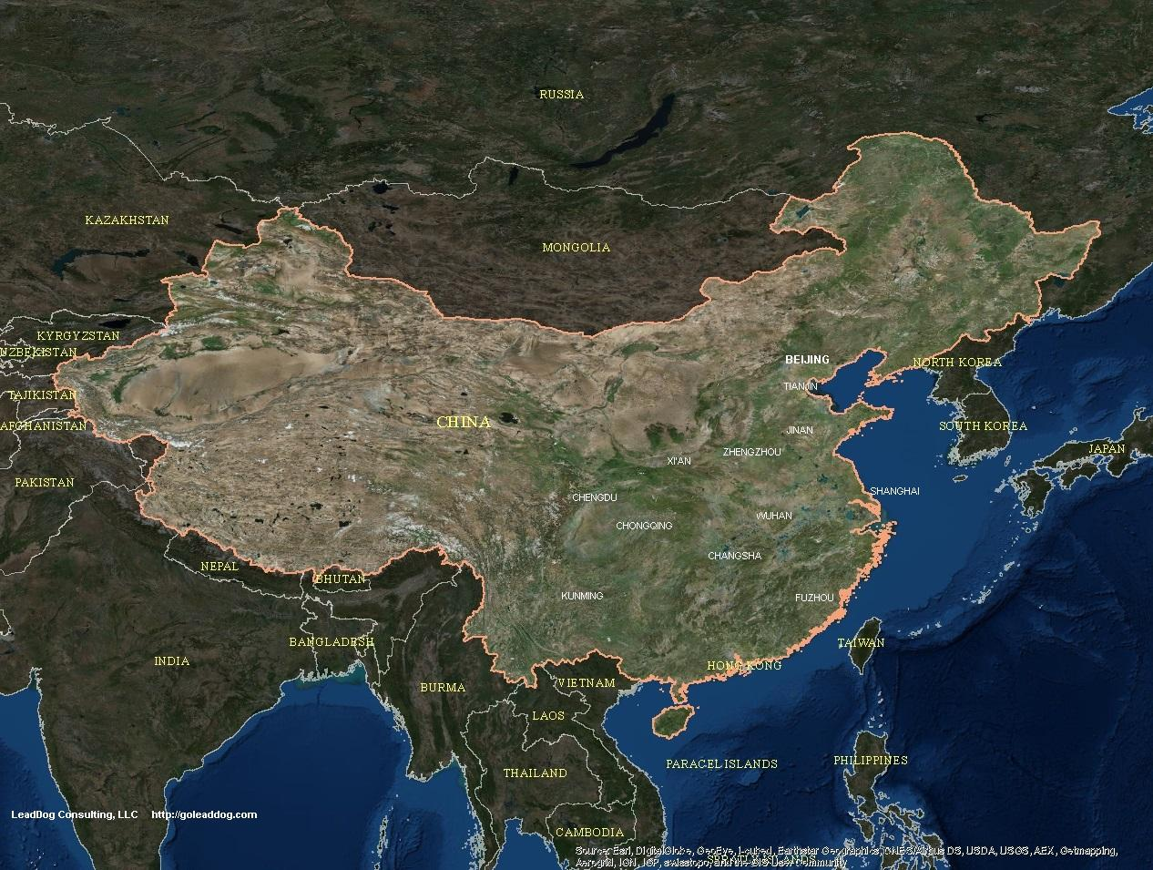 China Harta Prin Satelit China Harta Satelit Asia De Est Asia